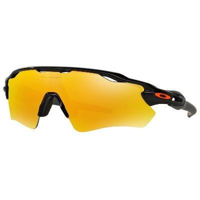 1f7bfeac600 Cheap Oakley Radar EV Path Team Colors sunglasses Polished Black frame   Fire Iridium lens Outlet Sale